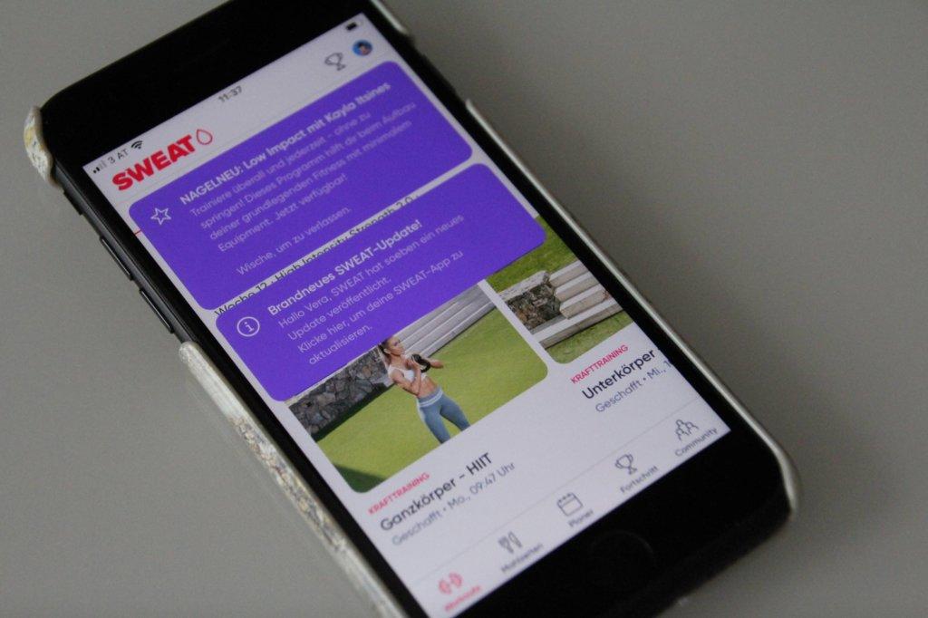 Sweat App Erfahrungsbericht